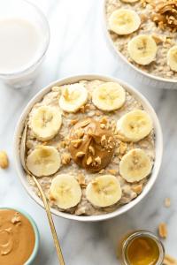 peanut butter banana overnight oats3 min 200x300 - فرنی جو دو سر و بادام زمینی