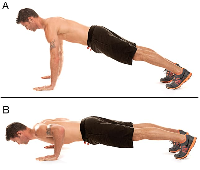 Advanced Push up Variations Traditional Push up - شنا