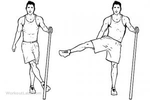 Side Leg Hip Swings1 min 300x200 - 30 روز تا خلاصی از شر چربی ران
