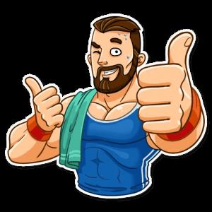 big sportguy 2 300x300 - استیکر پسر ورزشکار تلگرام