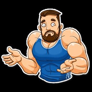 big sportguy 6 300x300 - استیکر پسر ورزشکار تلگرام
