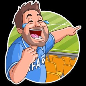 big thefootballsupporter 1 300x300 - استیکر هوادار فوتبالی تلگرام